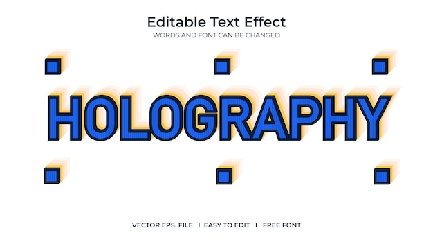 Holographi de efeito de texto