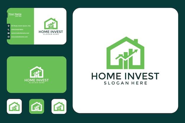 Home invest design de logotipo e cartão de visita