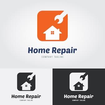 Home logos de reparação Vetor Premium