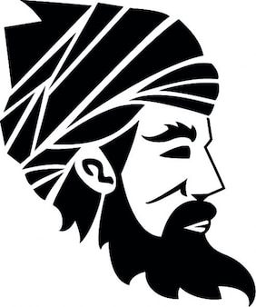Homem árabe com turbante