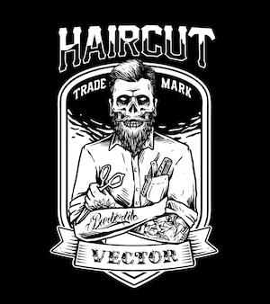 Homem barbeiro
