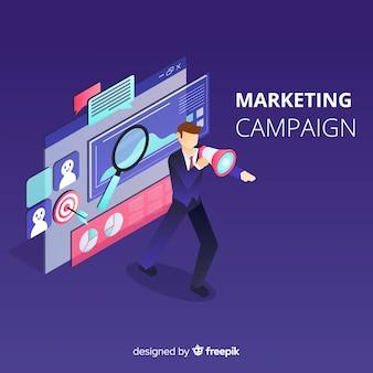 Homem, campanha marketing, fundo