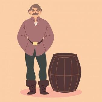 Homem camponês medieval, era medieval
