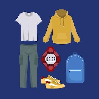Homem, casual, guarda-roupa, cobrança