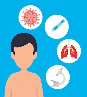 Homem com 19 cobiçadas miniaturas de doenças
