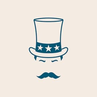 Homem com chapéu do tio sam