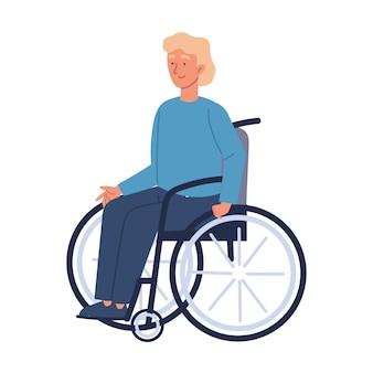 Homem com deficiência em cadeira de rodas