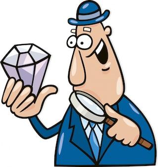 Homem com diamante