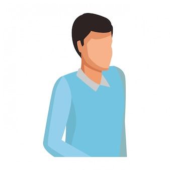 Homem, com, suéter, avatar