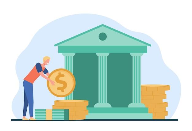 Homem conseguindo um empréstimo