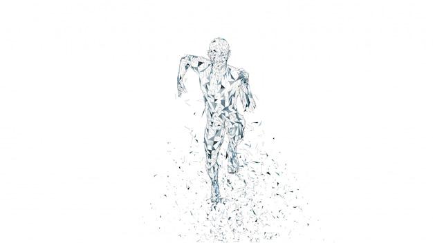 Homem correndo abstrato conceitual