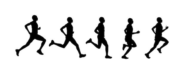 Homem correndo silhueta