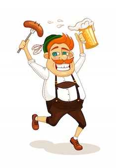 Homem da festa da cerveja
