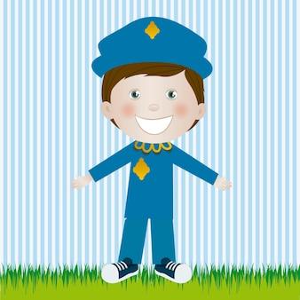 Homem da polícia