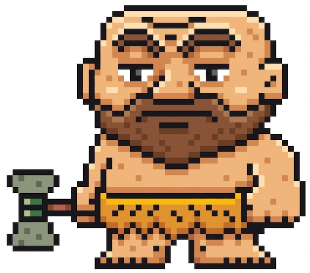 Homem das cavernas dos desenhos animados