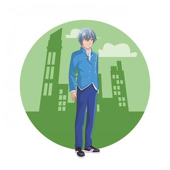 Homem de anime mangá