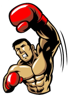Homem de boxe soco