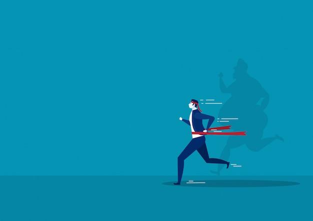 Homem de empresário correndo