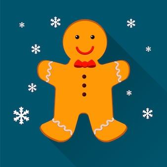 Homem de gengibre. biscoitos natalinos