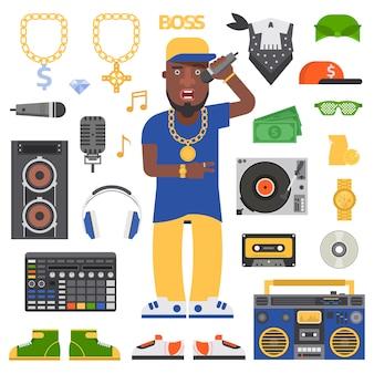 Homem de hip-hop.