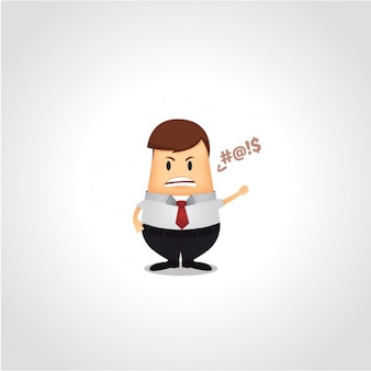 Homem de negócio argumentando
