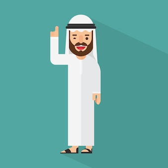 Homem de negócios árabe tendo uma boa idéia