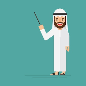 Homem de negócios árabe um relatório de trabalho