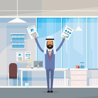 Homem de negócios árabes