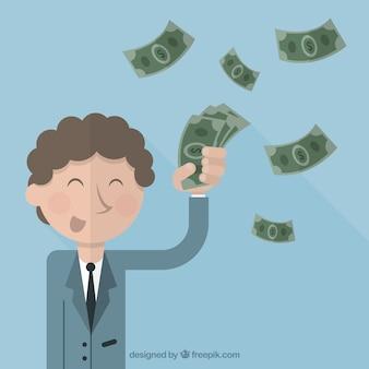 Homem de negócios com dinheiro