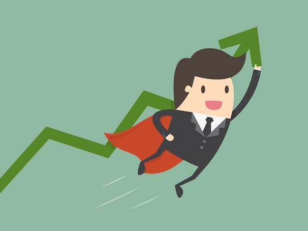 Homem de negócios com um gráfico