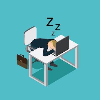 Homem de negócios dormindo