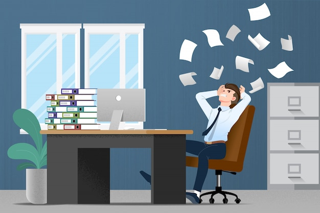 Homem de negócios estressado