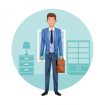 Homem de negócios executivo no escritório