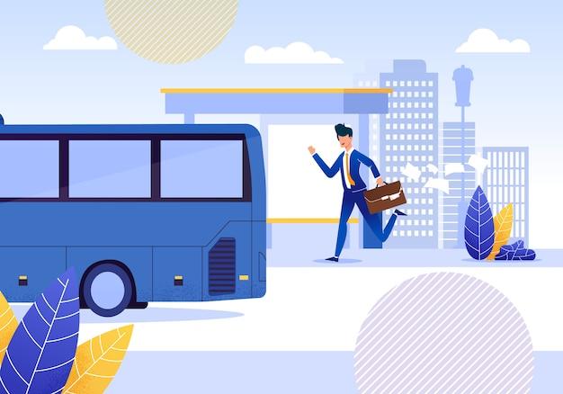 Homem de negócios holding suitcase com papéis de queda.