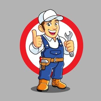 Homem de serviço de reparo