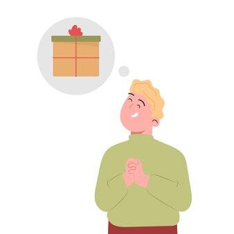 Homem deseja um presente no dia de natal