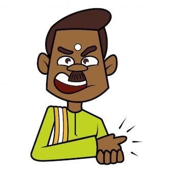 Homem do sul da índia