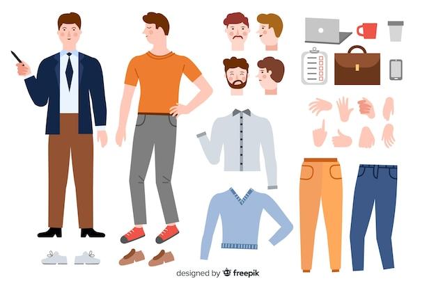 Homem dos desenhos animados para design de movimento