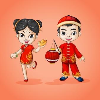 Homem e mulher da china