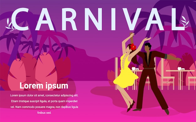 Homem e mulher dançar danças de salão no carnaval.