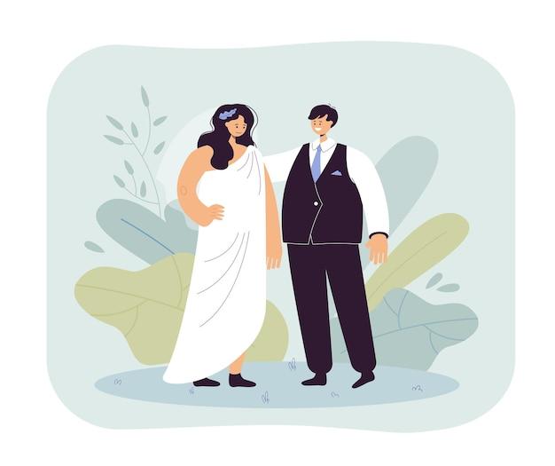 Homem e mulher na ilustração de casamento