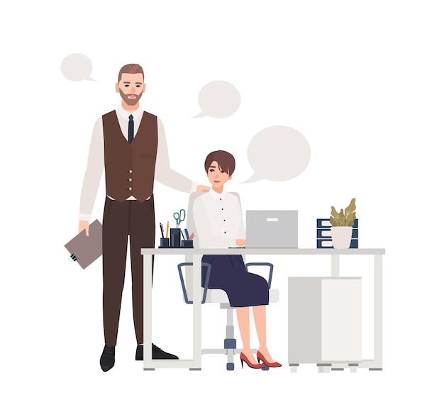 Homem e mulher trabalhando juntos