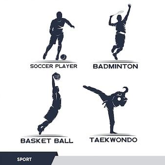 Homem esporte ilustração