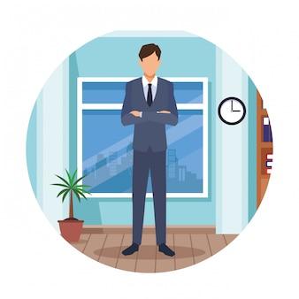 Homem executivo, caricatura