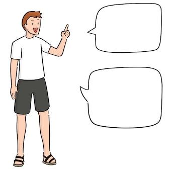 Homem falando
