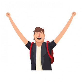 Homem feliz, caricatura