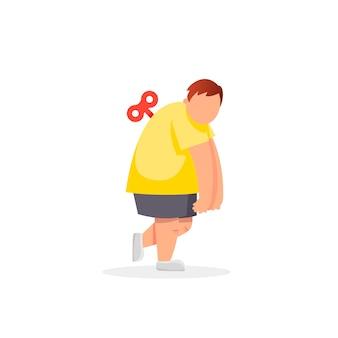 Homem gordo cansado