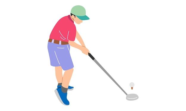 Homem jogador de golfe