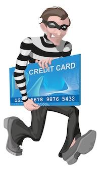 Homem ladrão roubou cartão de crédito