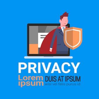 Homem laptop gdpr privacidade de dados